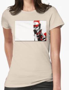 anime - pokemon - trainer red Womens Fitted T-Shirt