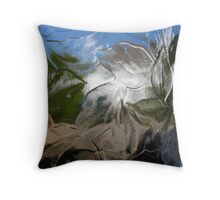 White House Through Patterned Glass Throw Pillow