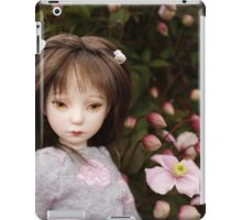 girl with flowers iPad Case/Skin