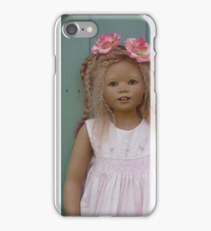 sweet pink girl iPhone Case/Skin