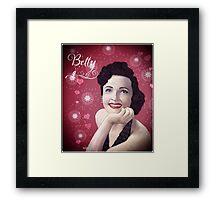 Ms Betty  Framed Print