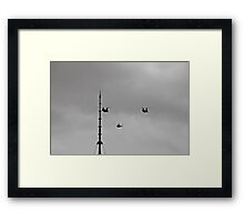 Helicopters Over One World Trade Center Framed Print