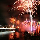 Fireworks in Brisbane by footsiephoto