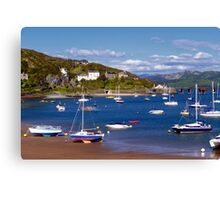 Barmouth from the Beach Canvas Print