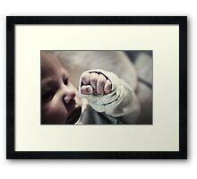 Fist. Framed Print