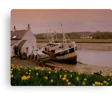 Fishing Boat at Kirkcudbright Harbour Canvas Print