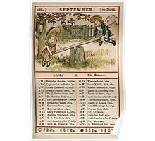 Kate Greenaway Almanack 1880 0015 September Poster