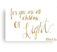 Children of Light Canvas Print