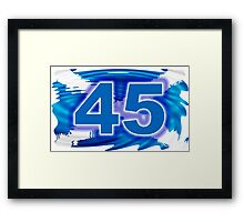 FREE SCOTLAND 45  Framed Print