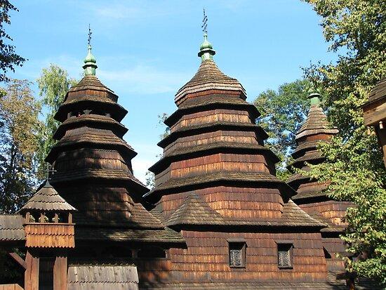 Wooden Church by Elena Skvortsova