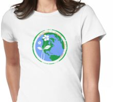Go Green, recycle~reduce~reuse Womens Fitted T-Shirt