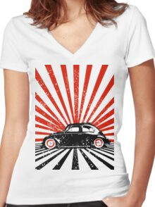 beetle Women's Fitted V-Neck T-Shirt