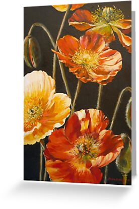 Poppies Too (for Lea Durham) by Elizabeth Moore Golding