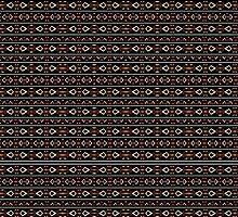 Tribal Dark Aztec Pattern by DFLC Prints