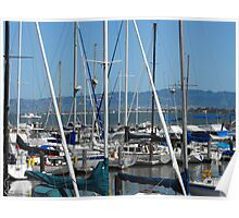 Masts on the Bay Poster
