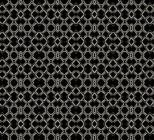 Geometric Abstract Pattern Futuristic Design  by DFLC Prints