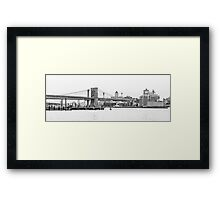 The veins of New York City Framed Print