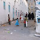 Symbols on the wall (2) - a street in old Al Mukalla by Marjolein Katsma