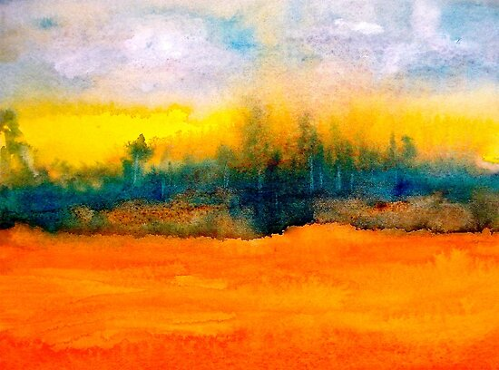 Landscape Abstract...Fantaisie by © Janis Zroback