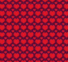 Galaxy Hearts Grunge Style Pattern by DFLC Prints