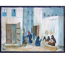 Symbols on the wall (4) - mural in old Al Mukalla Photographic Print