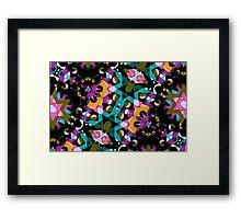 Digital Futuristic Geometric Pattern Framed Print