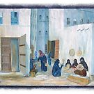 Symbols on the wall (4) - mural in old Al Mukalla (card 1) by Marjolein Katsma
