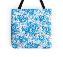 Blue floral design in Russian gzhel style Tote Bag
