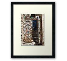 Symbols on the wall (6) - gateway in Ibb Framed Print