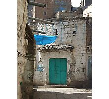 Symbols on the wall (7) - street corner in Ibb Photographic Print