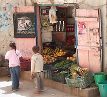 Symbols on the wall (9) - fruit and veg shop in Ibb by Marjolein Katsma