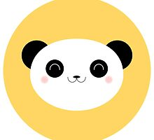 Cute Happy Kawaii Panda Sticker by Lisa Marie Robinson