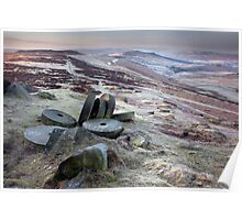 Stanage Edge At First Light Poster