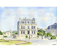 The Mairie at Montbron, France Photographic Print