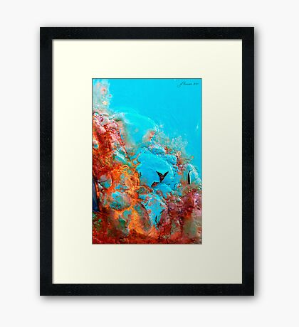 Pillow Lava Framed Print