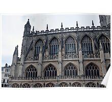 The Side Of Bath Abbey, Bath, UK Poster