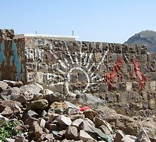 Symbols on the wall (14) - a wall near Manakhah by Marjolein Katsma