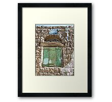 Symbols on the wall (13) - a window in Manakhah Framed Print