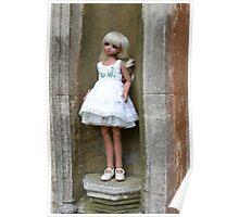 Emily on pedestal Poster