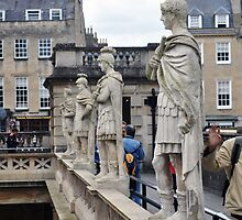Roman Statues, Bath, UK by James J. Ravenel, III