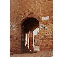 Symbols on the wall (18) - Kawkaban town gate Photographic Print