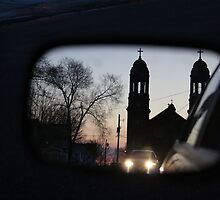 Hope in the Side View Mirror. by Melanie  Johannsen