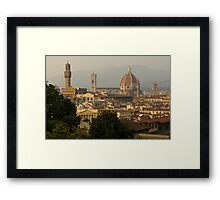 Hot Summer Afternoon in Florence, Italy Framed Print