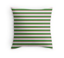 Pink Roses in Anzures 2 Stripes 2H Throw Pillow
