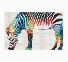 Colorful Zebra Art by Sharon Cummings Kids Clothes