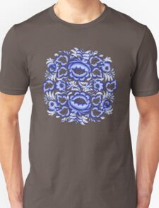 Blue floral design in Russian gzhel style T-Shirt