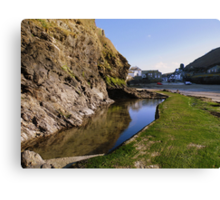 Cornwall: Tide Out at Port Isaac Canvas Print