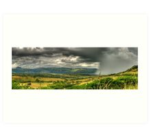 The Calm Before The Storm Panoramic Art Print