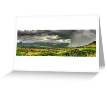 The Calm Before The Storm Panoramic Greeting Card