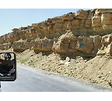 Symbols on the wall (25) - road from Al Mahwit to Sanaa Photographic Print